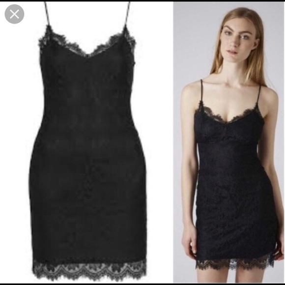 9025a4a3e1cb Topshop Dresses | Nwt Black Lace Mini Dress | Poshmark
